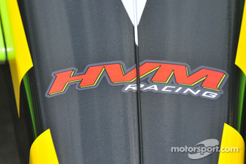 Detail on the front nose of Nelson Philippe's car, HVM Racing