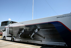 BMW Sauber F1 Team trucks
