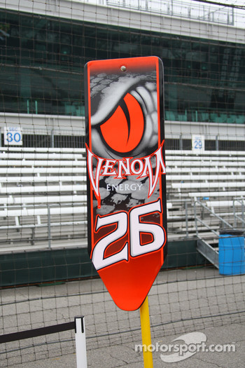 Pit board for Marco Andretti, Andretti Green Racing