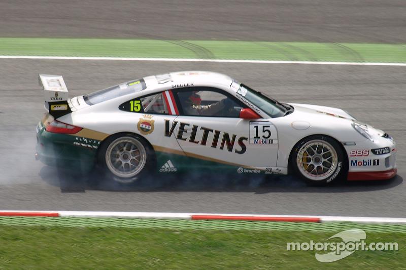 Porsche Super Cup action
