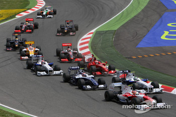 Start: Timo Glock, Toyota F1 Team, Nick Heidfeld, BMW Sauber F1 Team