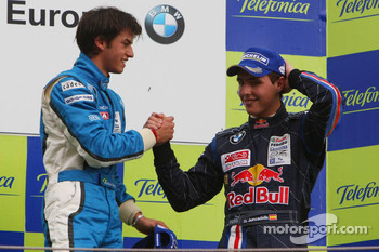 1st Luiz Felipe Nasr, Eurointernational and 3rd Daniel Juncadella, Eurointernational