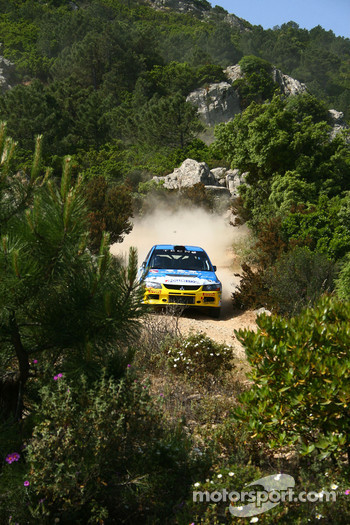 Simone Campedelli and Danilo Fappani, Team Errani, Mitsubishi Lancer Evo IX Team Errani