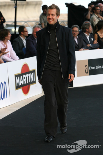 Sebastian Vettel, Red Bull Racing at the Fashion show