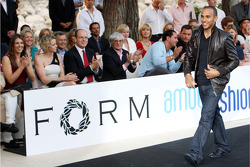 Lewis Hamilton, McLaren Mercedes at the Fashion show