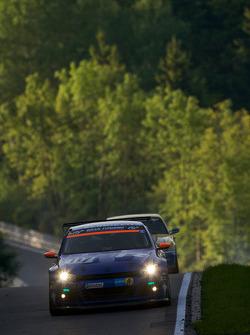 #117 Volkswagen Motorsport Volkswagen Scirocco GT24: Carlos Sainz, Giniel de Villiers, Dieter Depping