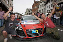 Happy fans with the Phoenix Racing Audi R8 LMS