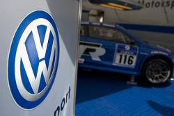Volkswagen Motorsport paddock area