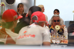 A meeting of Team Principles and drivers is held in the Toyota motorhome, Flavio Briatore, Renault F1 Team, Team Chief, Managing Director