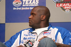 Grand Marshal Shaquille O'Neal answers questions for the press
