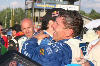 Scott Pruett and Memo Rojas celebrate the win