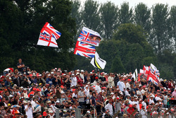 Fans with flags