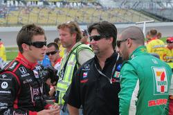 Marco Andretti, Michael Andretti, and Tony Kanaan