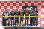 GT1 podium: class and overall winners Mike Hezemans and Anthony Kumpen, second place Michael Bartels and Andrea Bertolini, third place Miguel Ramos and Alex Mller
