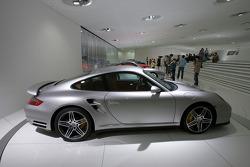 Porsche 911 Turbo cars on display