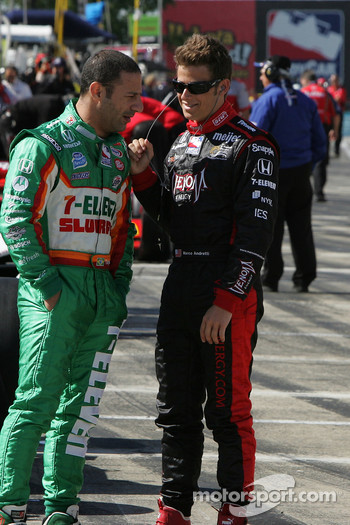 Tony Kanaan, Andretti Green Racing and Marco Andretti, Andretti Green Racing