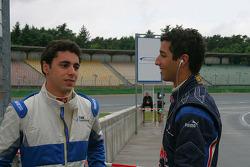 Gabriel Dias and Daniel Ricciardo