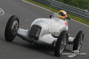 Lewis Hamilton, McLaren Mercedes celebrates 75 years of Silver Arrows