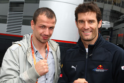 Felix Sturm and Mark Webber, Red Bull Racing