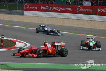 Kimi Raikkonen, Scuderia Ferrari, Giancarlo Fisichella, Force India F1 Team, Nico Rosberg, Williams F1 Team
