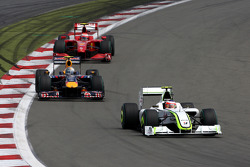 Rubens Barrichello, Brawn GPleads Sebastian Vettel, Red Bull Racing