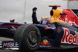 1. Mark Webber, Red Bull Racing, feiert