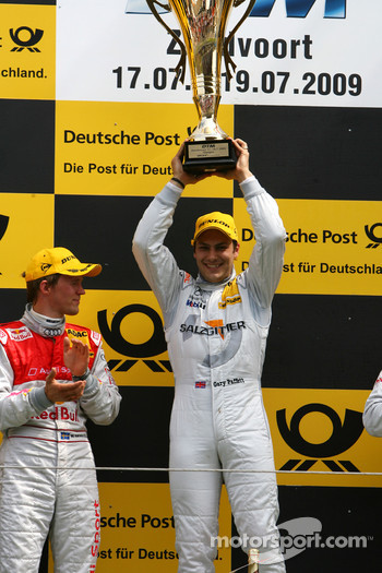 Podium, Gary Paffett, Team HWA AMG Mercedes and Mattias Ekström, Audi Sport Team Abt