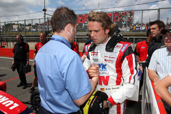 Andy Soucek is congratulated on winning race 2 by Simon Melluish F2 Media and PR Officer