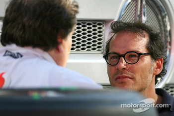 Norbert Haug, Mercedes, Motorsport chief and Jacques Villeneuve