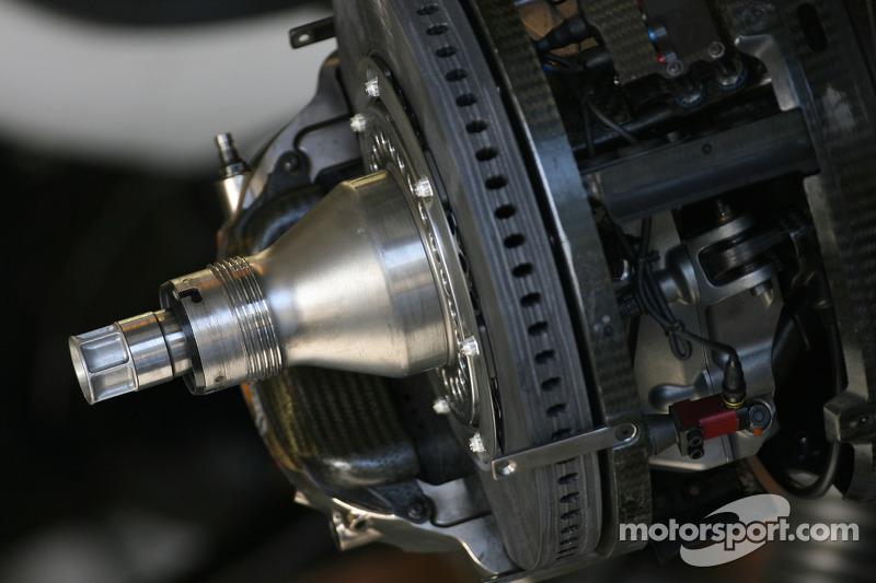 Williams F1 Team brake system detail
