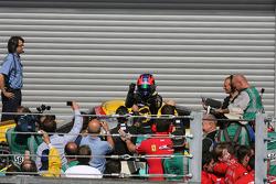 Race winner Mike Hezemans celebrates in parc fermé