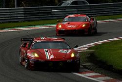 #50 AF Corse Ferrari F430: Toni Vilander, Gianmaria Bruni, Jaime Melo, Luis Perez Companc; #55 CRS Racing Ferrari F430: Chris Niarchos, Tim Mullen, Phil Quaife, Chris Goodwin