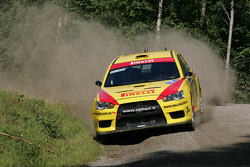 Mark Tapper and Jeff Judd, Pirelli Star Driver Mitsubishi Evo X