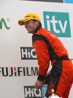 Colin Turkington sprays the champagne