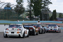 GT cars get ready to go on track