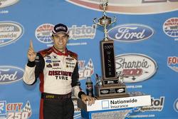 Victorye lane: race winner David Ragan
