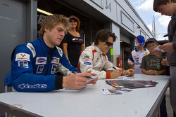Autograph session: Milos Pavlovic and Jack Clarke