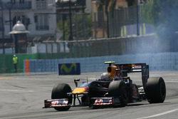 Sebastian Vettel, Red Bull Racing blows his engine