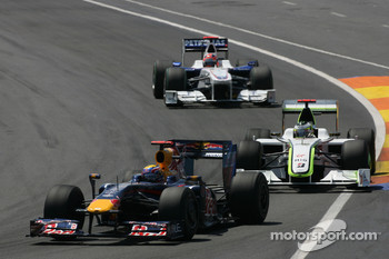 Mark Webber, Red Bull Racing and Jenson Button, Brawn GP