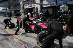 Pit stop for #24 Oak Racing Pescarolo - Mazda: Jacques Nicolet, Richard Hein