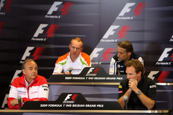 John Howett, Toyota F1 Team, President TMG, Simon Roberts, Force India F1 Team, Sam Michael, WilliamsF1 Team, Technical director, Christian Horner, Red Bull Racing, Sporting Director