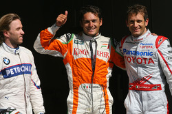 Nick Heidfeld, BMW Sauber F1 Team, Giancarlo Fisichella, Force India F1 Team and Jarno Trulli, Toyota F1 Team