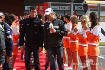 Mark Webber, BrawnGP Red Bull Racing and jb-
