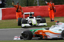 The car of Jenson Button, BrawnGP