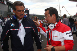Dr. Mario Theissen, BMW Sauber F1 Team, BMW Motorsport Director and Tadashi Yamashina, Chairman and Team Principal