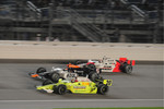 Ed Carpenter, Vision Racing; Mario Moreas, KV Racing Technology; and Ryan Briscoe, Team Penske