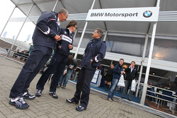 Dr. Klaus Draeger, Guido Stahlmann, and Dr. Mario Theissen, BMW Sauber F1 Team, BMW Motorsport Director with