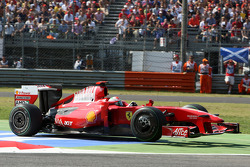Giancarlo Fisichella, Scuderia Ferrari runs off the track
