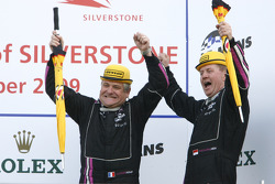 LMP2 podium: third place Jacques Nicolet and Richard Hein