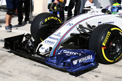 Felipe Massa, Williams FW38 with flow-vis paint on a new front wing